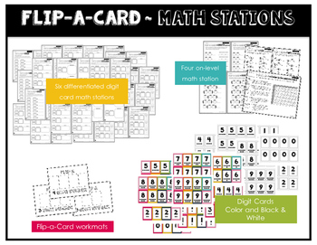 Math Stations for Addition ~ Flip-A-Card