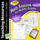 Math Stations for Upper Elementary
