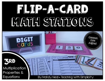 Math Stations for Multiplication Properties and Equations