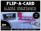 Math Stations for Represent and Interpret Data ~ Flip-A-Card