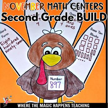 BUILD Math Centers for Second Grade NOVEMBER