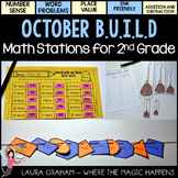 BUILD October Math Centers for Second Grade OCTOBER