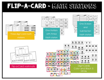 Math Stations for Understanding Multiplication ~ Flip-A-Card