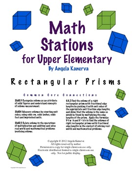 Math Stations for Upper Elementary 3D Measurement