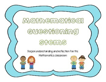 Math Questions Stems (ANY MATH AREA)