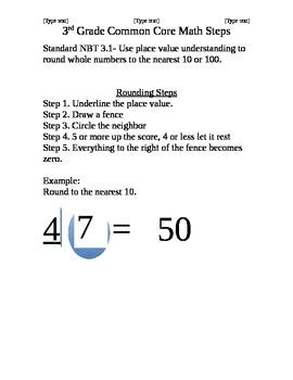 Math Steps NBT 3.1 and 3.2