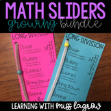 Math Steps Sliders Aides GROWING BUNDLE - Division, Multiplication, & More