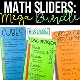 Math Steps Sliders Aides BUNDLE - Division, Multiplication, & More