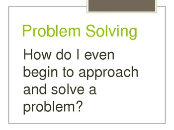 Math - Steps to solving Math Problems