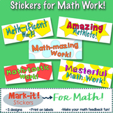 Math Stickers!  Give Positive Feedback on Student Math work!: Print on Labels