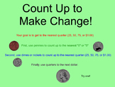 Math Stores - Making Change by Counting Up