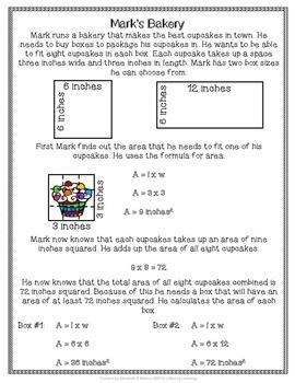 Area Math Stories