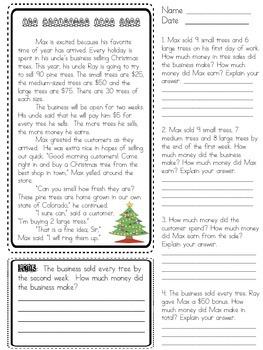 Math Stories Bundle (46 Math Stories!) 3rd - 6th grades
