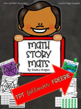 Math Story Mat Follower Freebie by KL