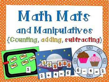 Math Mats and Manipulatives {addition, subtraction, counti