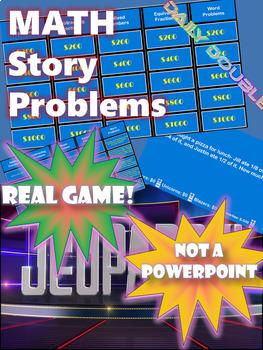 Math Story Problem Jeopardy