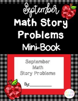 Math Story Problem Mini Books