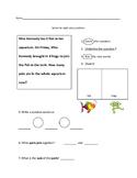 Math Story Problem Morning Work
