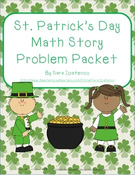 Math Story Problem Packet: St. Patrick's Day Theme