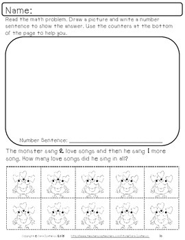 Math Story Problem Packet - Valentine's Day Theme