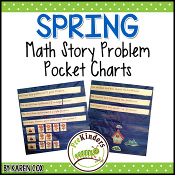 Math Story Problem Pocket Charts: SPRING Edition
