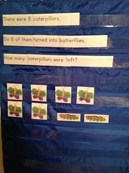 Math Story Problem Pocket Charts: SPRING Edition