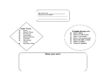 Math Story Problem Recording Sheet