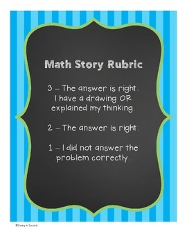 Math Story Problem Rubric Posters