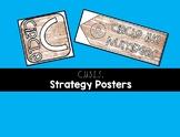 Farmhouse Theme Math Story Problem Strategy -- CUBES Poster