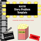 Math Story Problems Graphic Organizer- Hollywood Theme