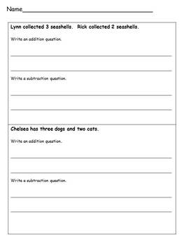 Math Story Problem Writing and Comprehension