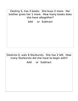 Math Story Problems