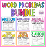 Addition and Subtraction Word Problems BUNDLE | 1st Grade Word Problems
