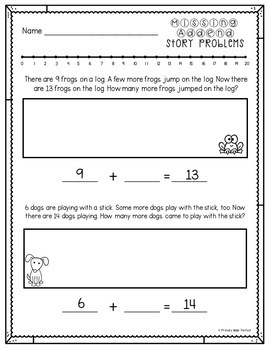 Addition and Subtraction Word Problems BUNDLE | 1st Grade Math