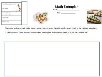 Math Story Problems- Christmas Themed