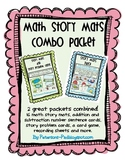 Math Story Problems: Mats Combo Packet