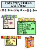 Math Story Problems CLUE WORDS Poster_FREE
