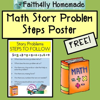 Math Story Problems Steps Poster_FREE