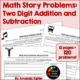 Math Story Problems: Two-digit Addition and Subtraction