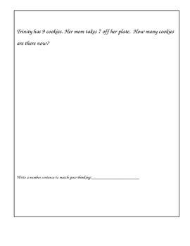 Math Word Problems K-2 for Problem Solving Journals