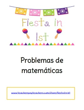 Math Story Problems--- in Spanish