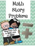 Math Story Problems (tens frame, number line, number bonds