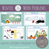 Math Story Prompts - Winter - Word Problems customizable t