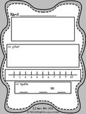 Math Story Template Printable (grayscale, no color)