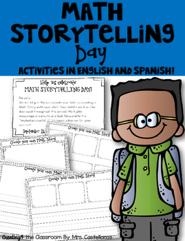 Write About Math-Math Storytelling Day Activities in English and Spanish!