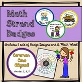 Math Strand Badges