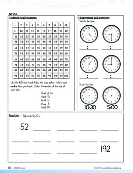 Math Strands Fitness (Sample) 2nd Grade Practice