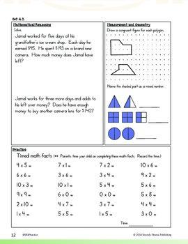 Math Strands Fitness (PDF) 4th Grade Practice