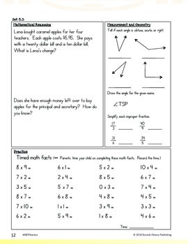 Math Strands Fitness (PDF) 5th Grade Practice