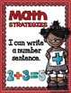 Math Strategies {Addition and Subtraction} Mini-Anchor Charts Now in RED